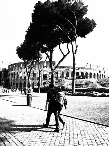コロッセオのまえの風景