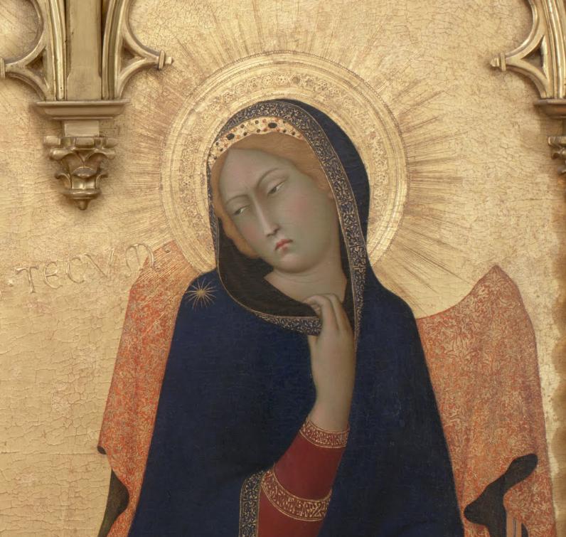 シモーネマルティーニ受胎告知のマリアの顔