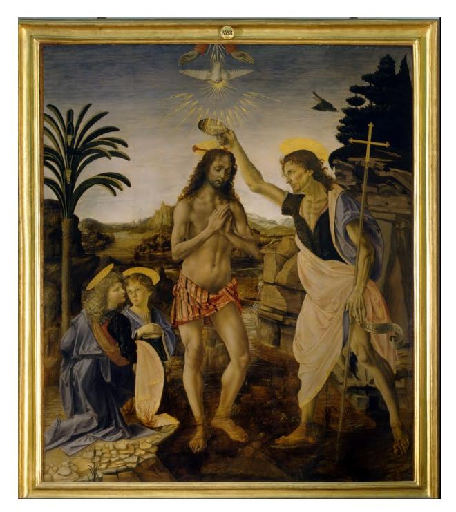 レオナルド・ダ・ヴィンチ「キリストの洗礼」