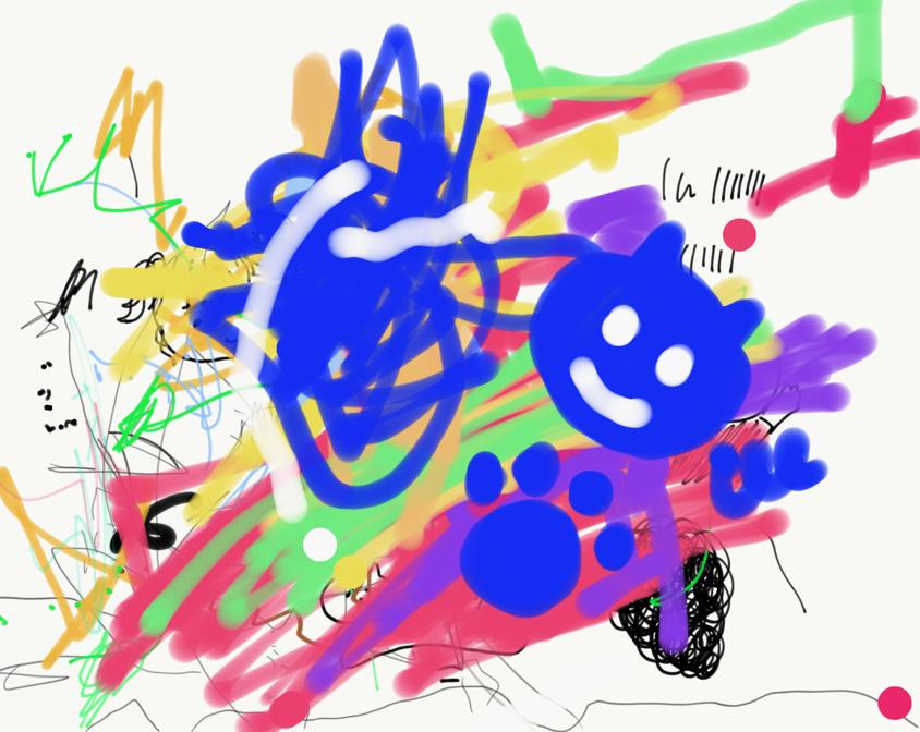 こねぎがiPadに描いた絵