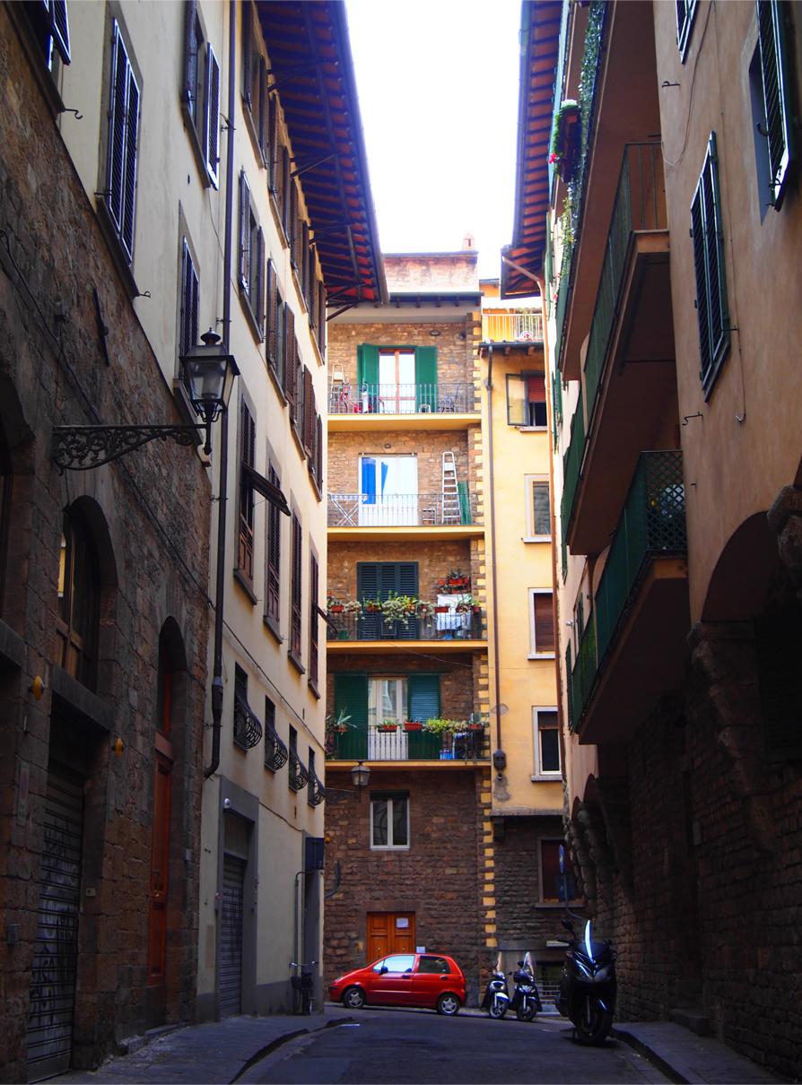 フィレンツェの住宅地
