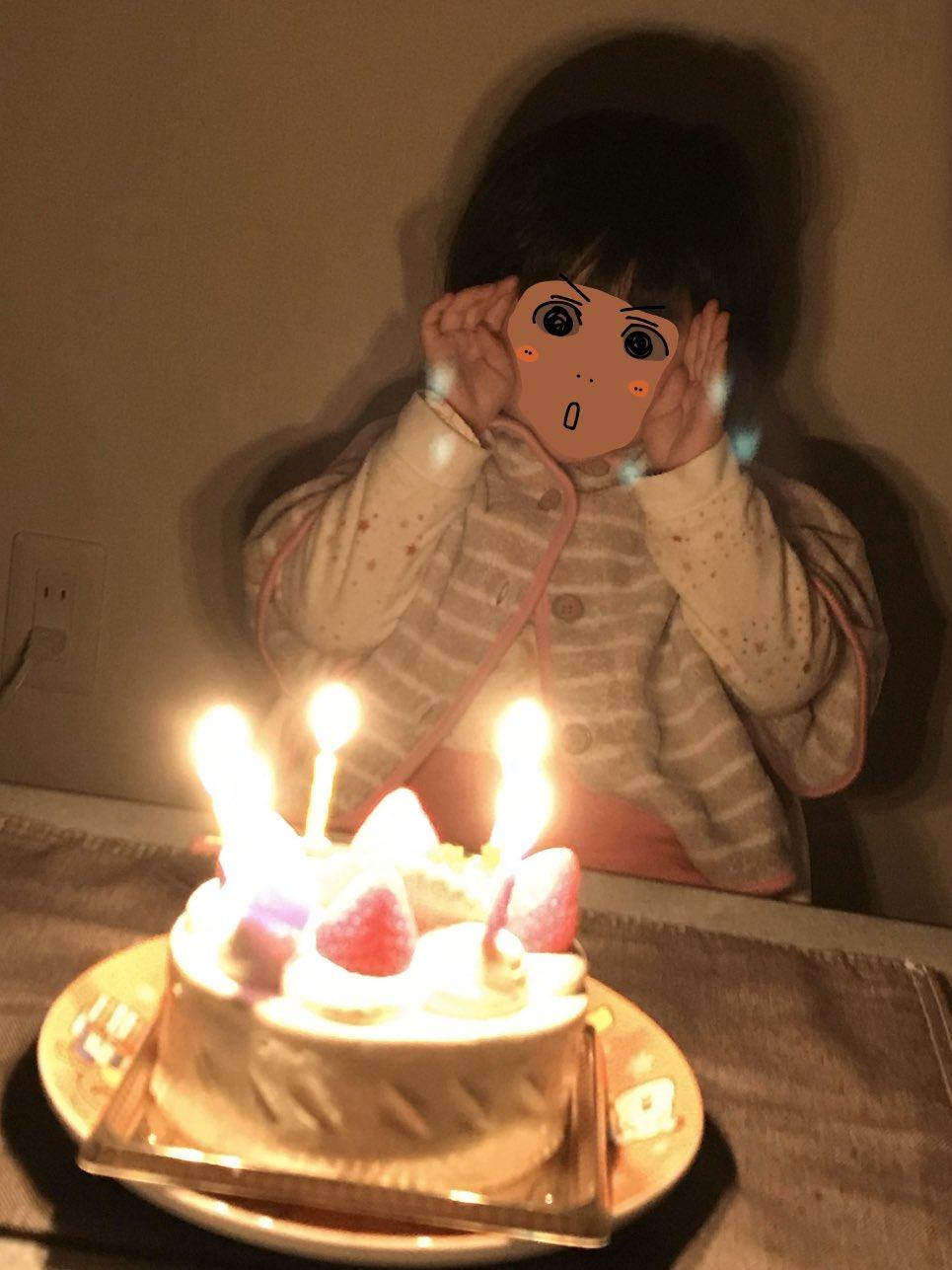 こねぎ誕生日ケーキ