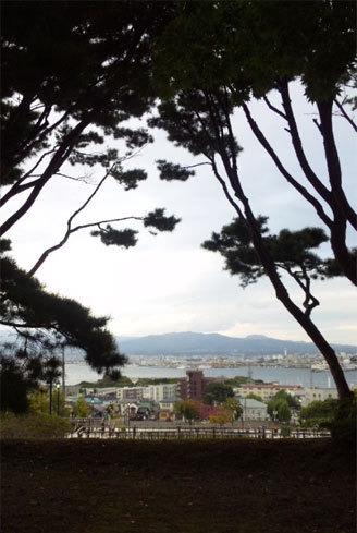 函館公会堂から臨む函館の町